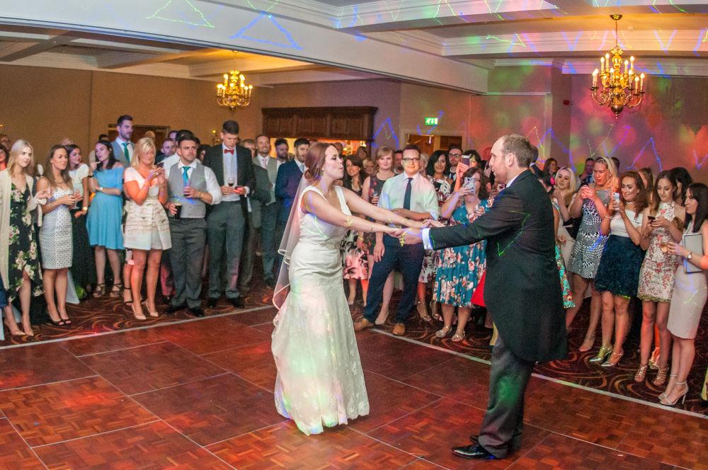 First dance, Sheffield wedding photographers, Tankersley Manor