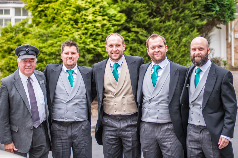 Groom and groomsmen, Sheffield wedding photographers,