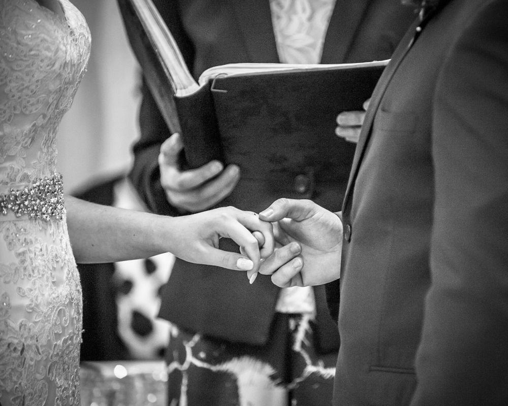 Ring exchange, Chesterfield wedding photographer, Casa Hotel