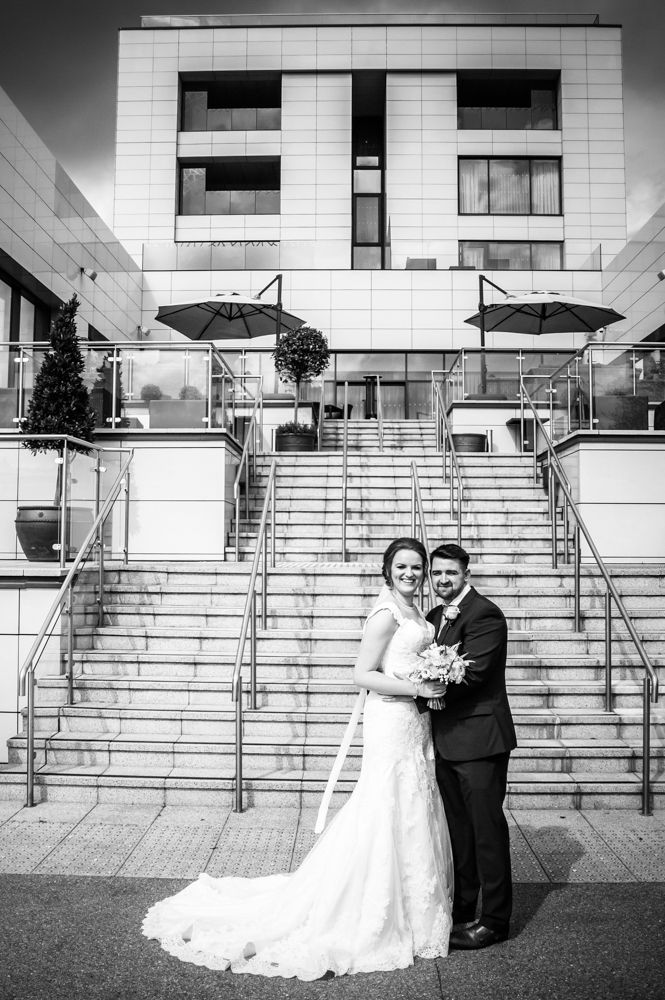 Outside Casa Hotel, Chesterfield wedding photographer, Casa Hotel