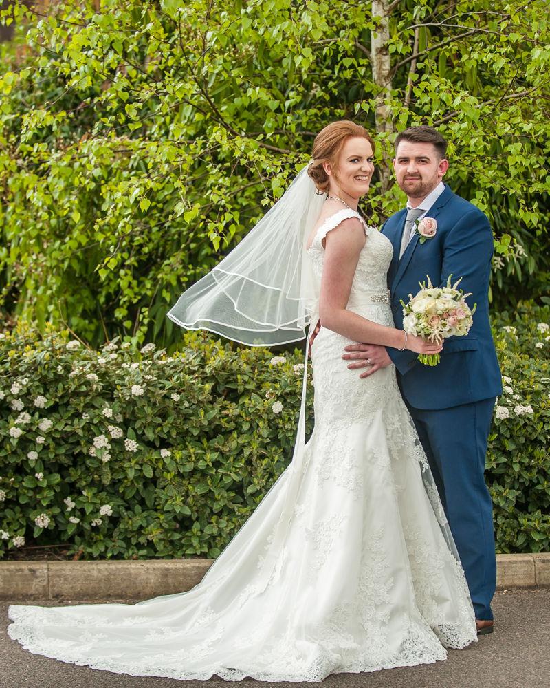 Brides veil blowing, Chesterfield wedding photographer, Casa Hotel
