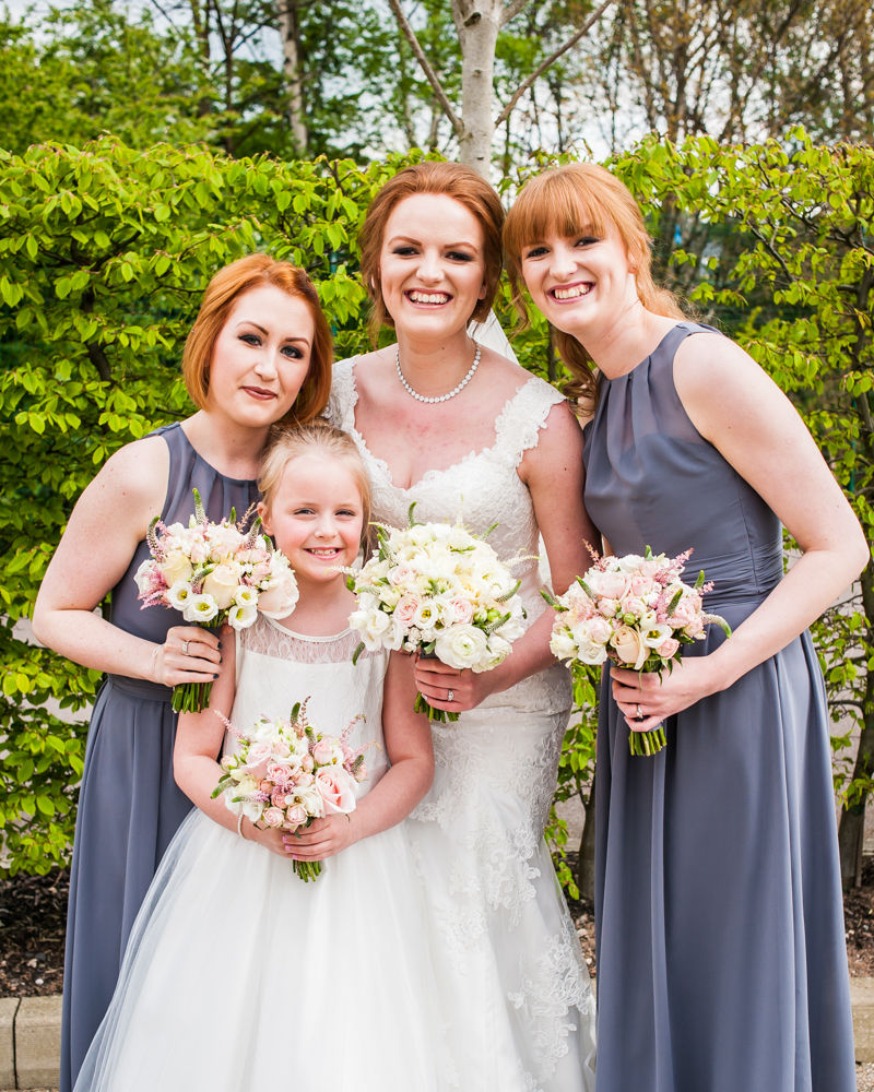 Bride and bridesmaids, Chesterfield wedding photographer, Casa Hotel
