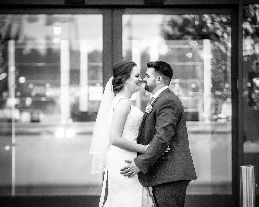 Outside hotel, Chesterfield wedding photographer, Casa Hotel