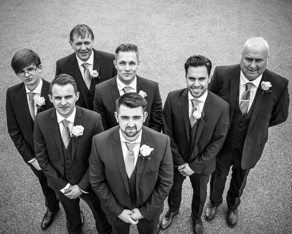 Lee and his groomsmen, Chesterfield wedding photographer, Casa Hotel
