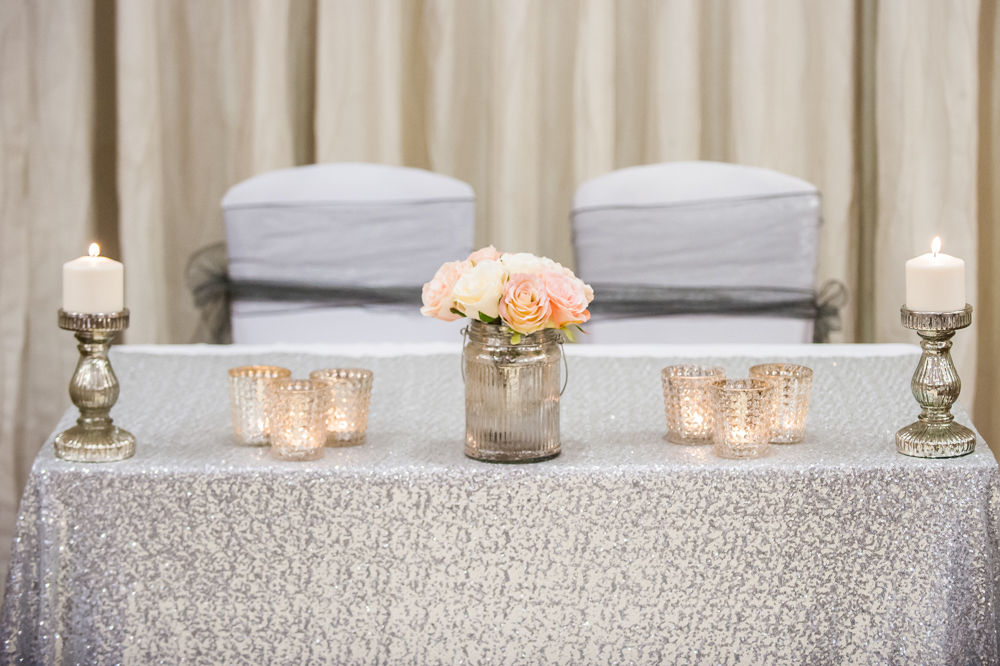 Top table decorations, Chesterfield wedding photographer, Casa Hotel