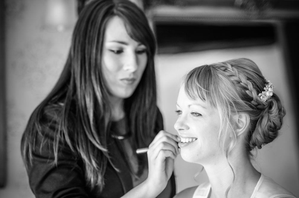Bridal makeup, Sheffield wedding photographers, Smallshaw Farm Cottages