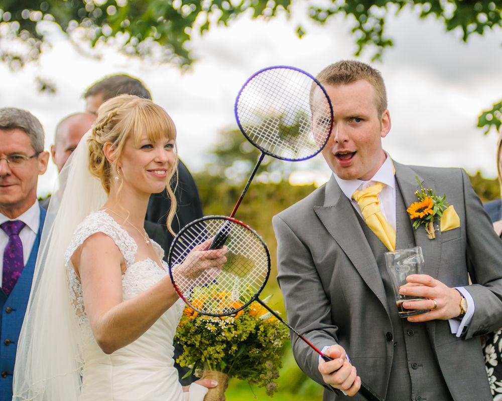 Badminton bride and groom, Sheffield wedding photographers, Smallshaw Farm Cottages
