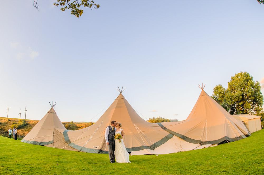Teepee wedding, Sheffield wedding photographers, Smallshaw Farm Cottages