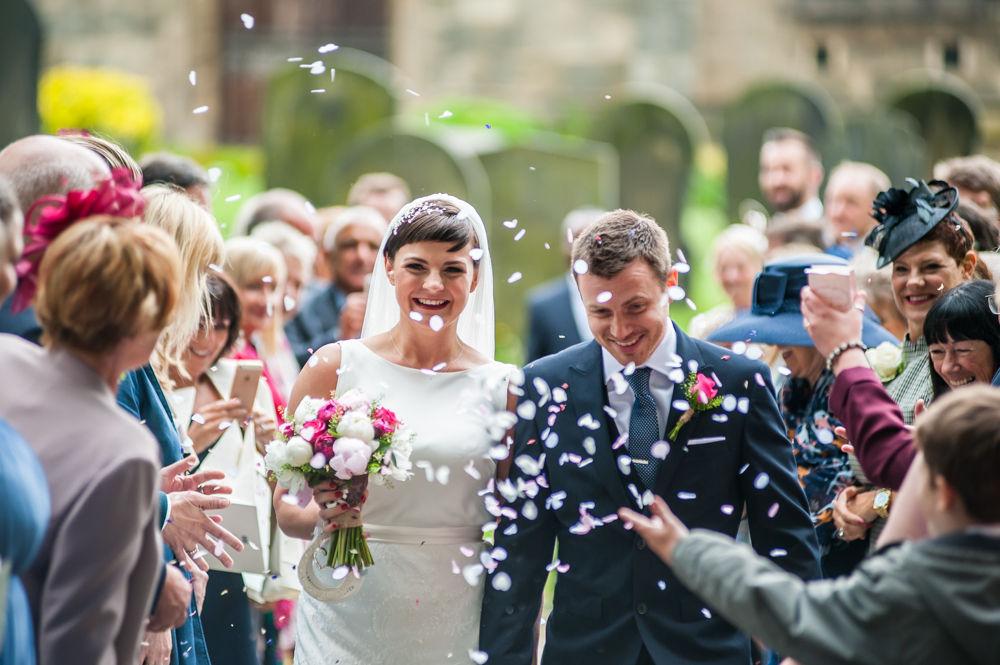 Confetti, Sheffield wedding photographers