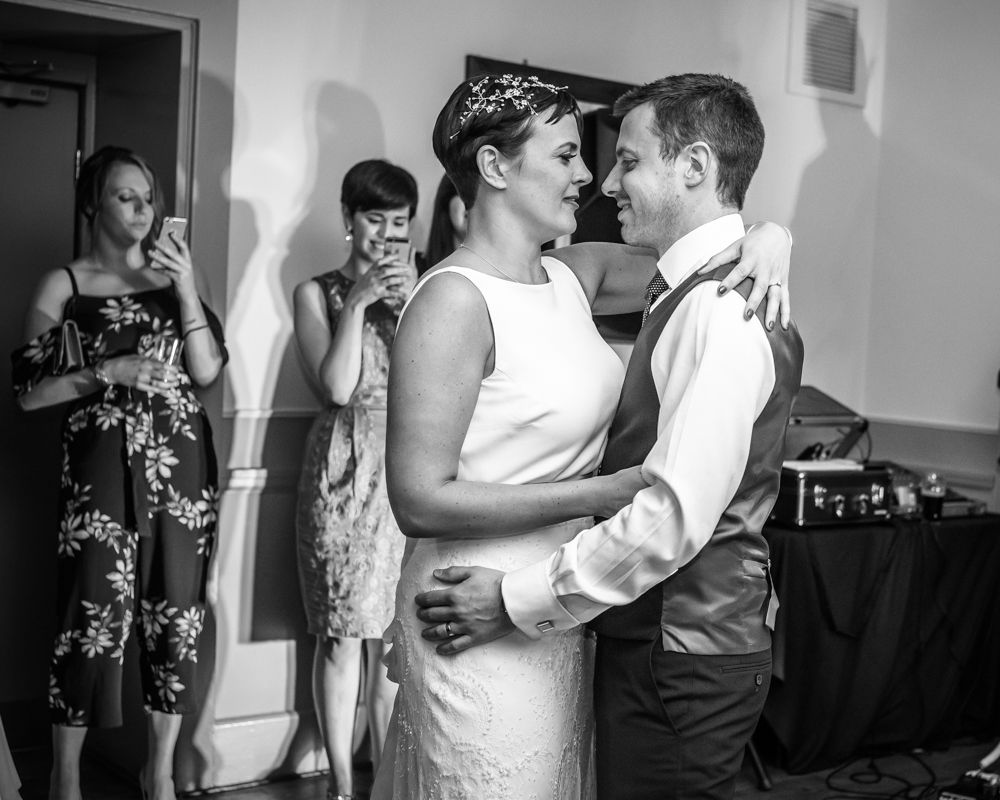 Bride and groom first dance, Sheffield wedding photographers, Whirlowbrook Hall