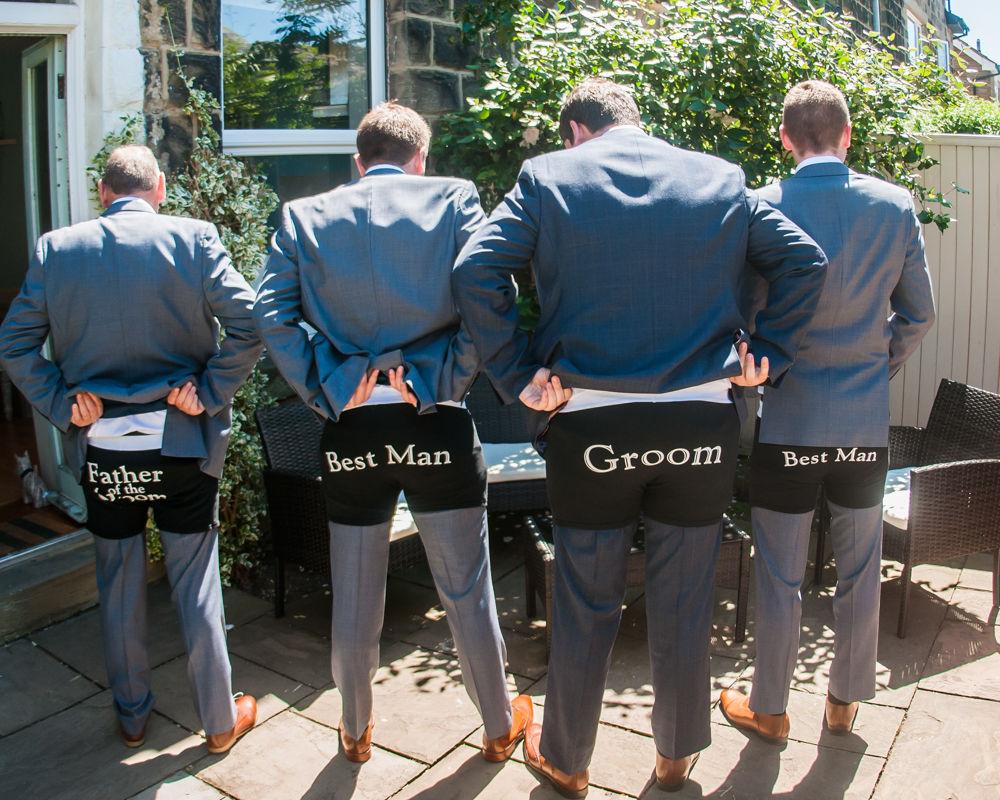 Groomsmen boxers, Harrogate wedding photographers