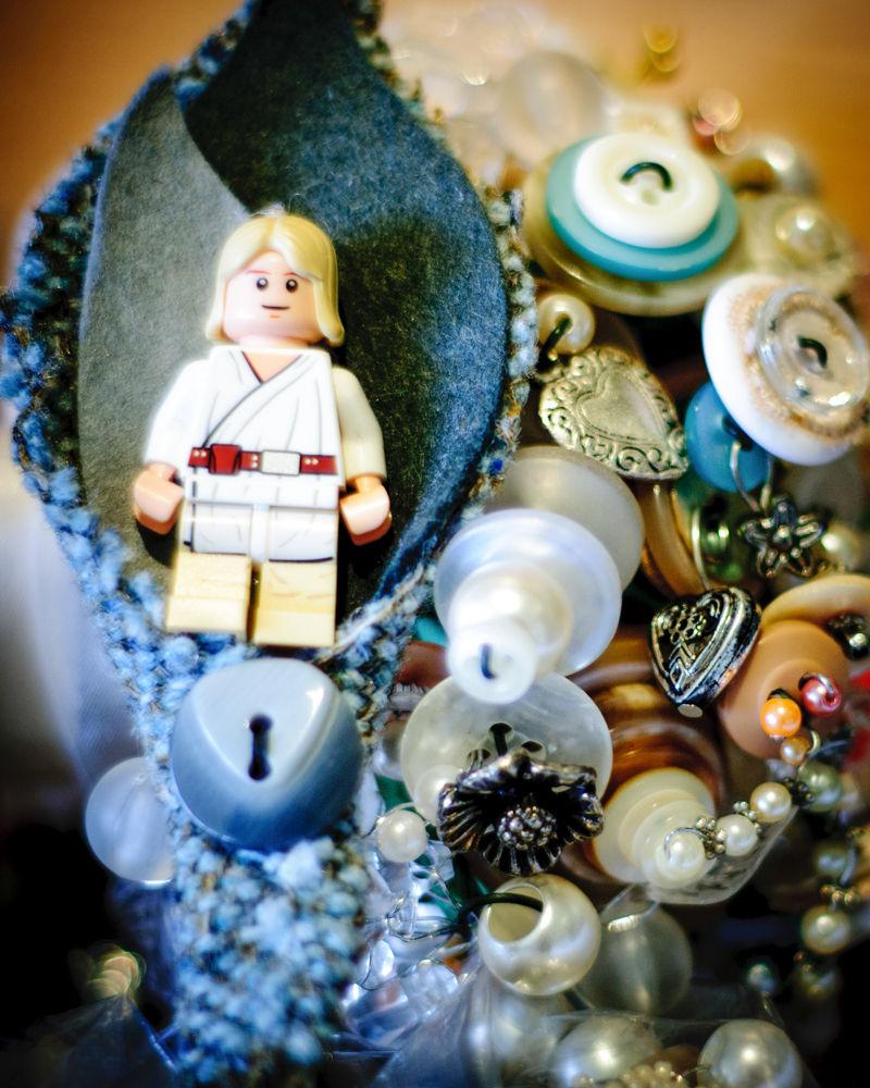 Star Wars lego buttonhole, Whirlowbrook Hall weddings Sheffield