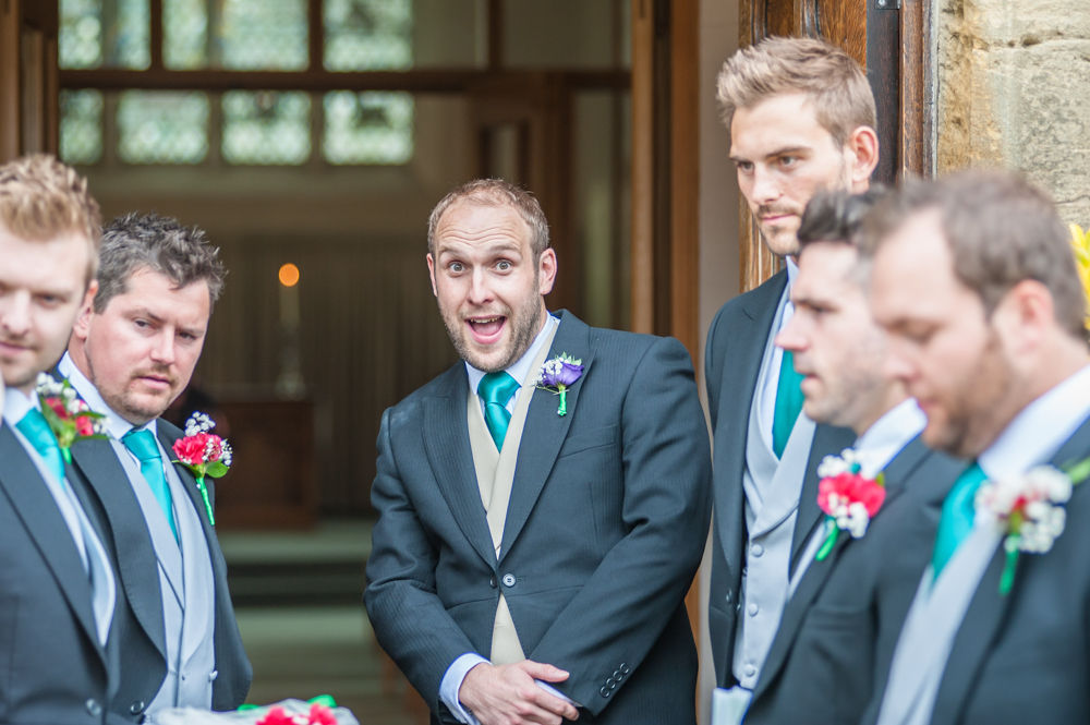 Groomsmen waiting for bride, Sheffield wedding photographers