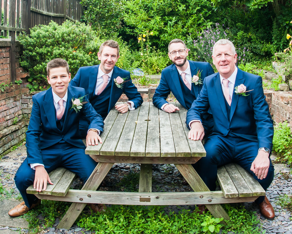 Groomsmen posing, Sheffield wedding photographers