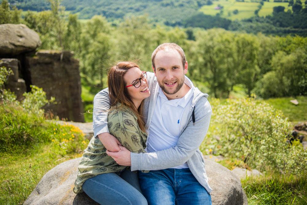 Laughing on pre-wedding photos, Sheffield wedding photographers
