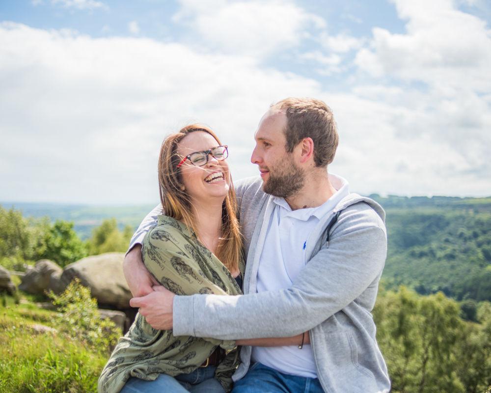 Laughs on pre-wedding photos, Sheffield