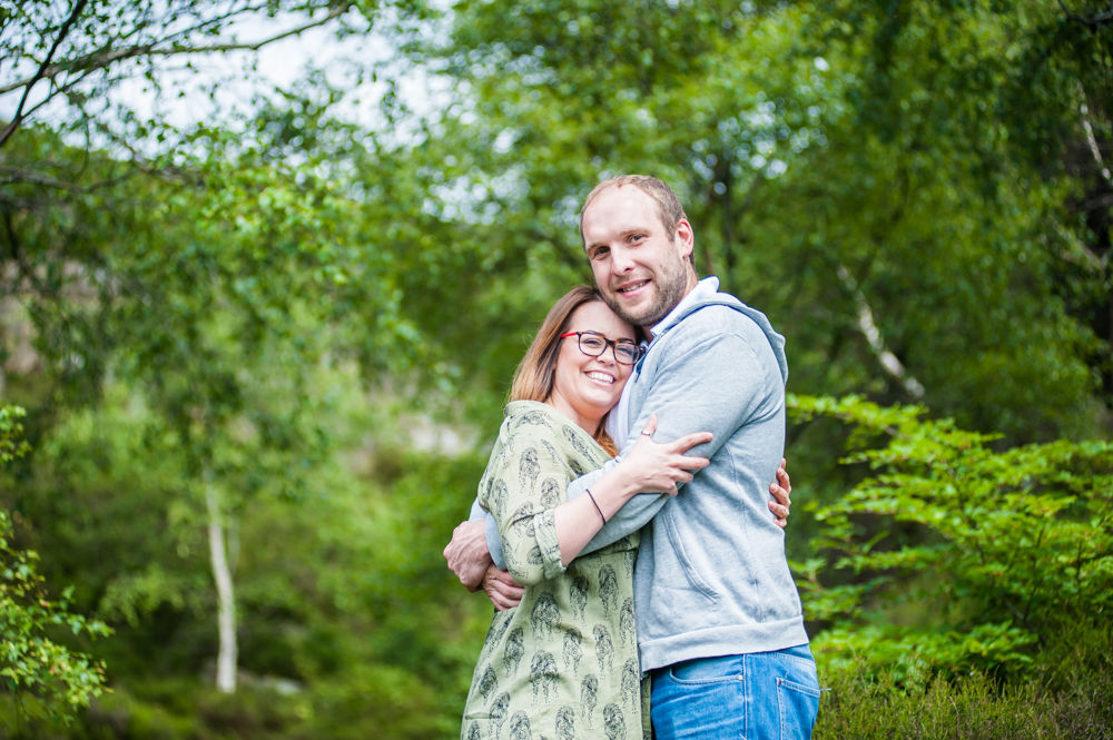 Hiding in the ferns, Sheffield wedding photographers