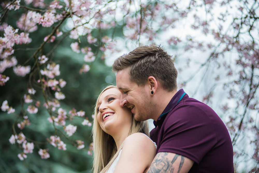 Whispering into ear, Botanical Gardens Sheffield wedding photographers
