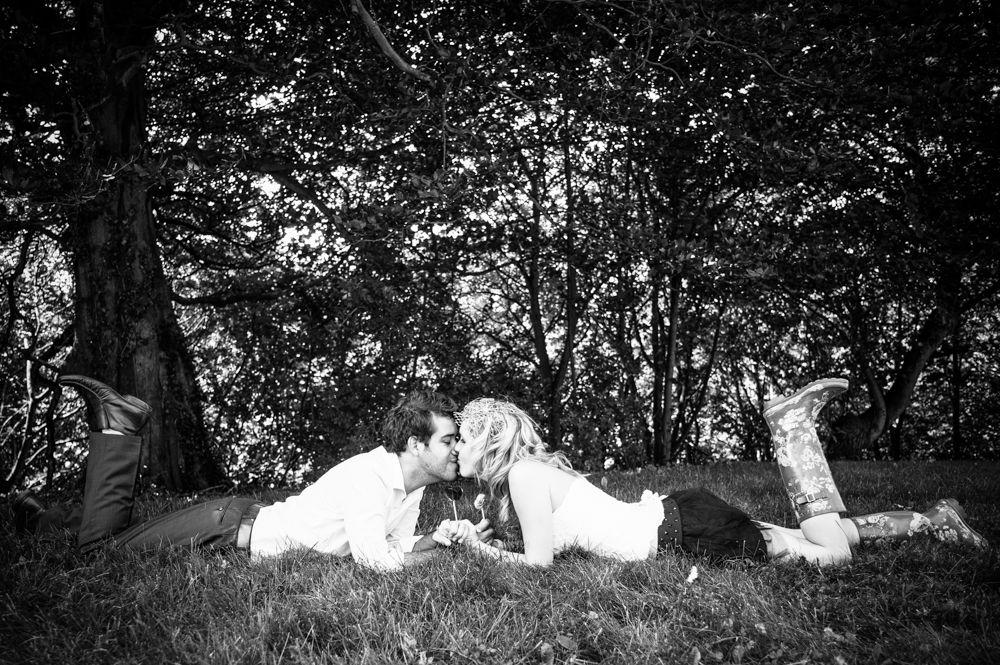 Bride in wellies, rock the dress Sheffield