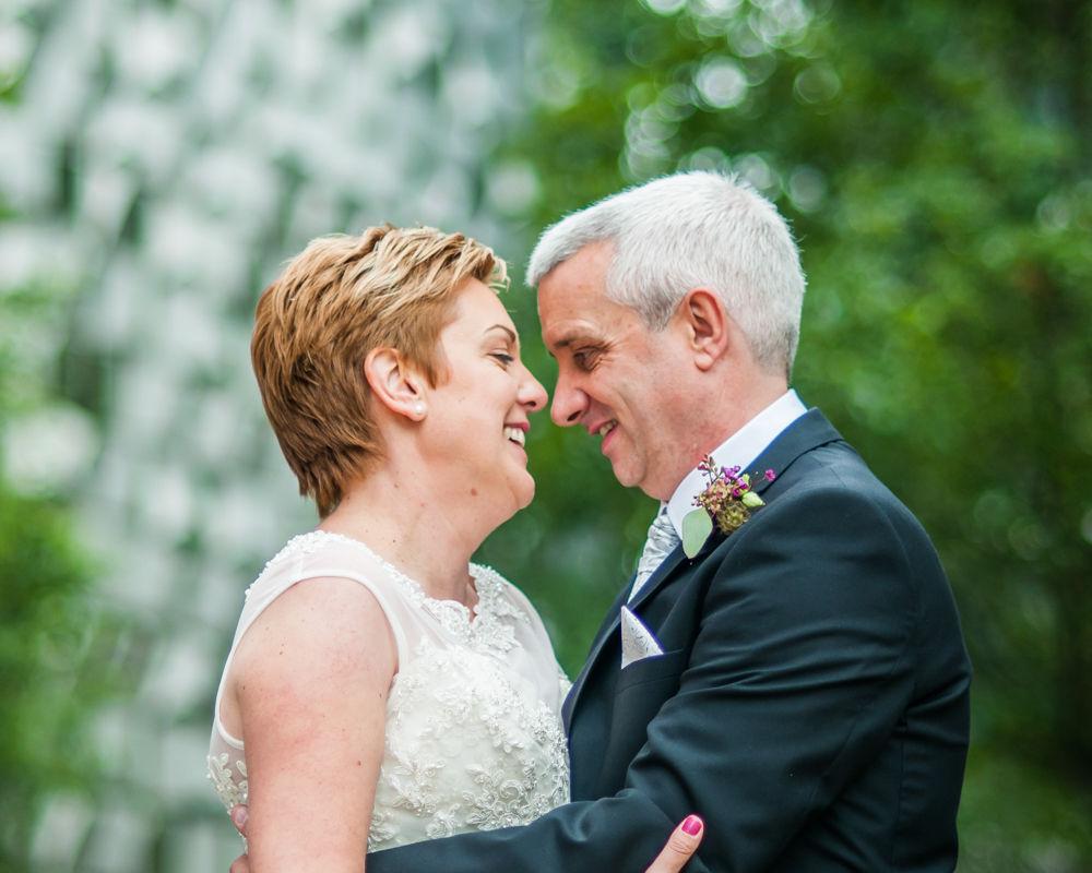 Peace Gardens wedding poses, Sheffield wedding photographer