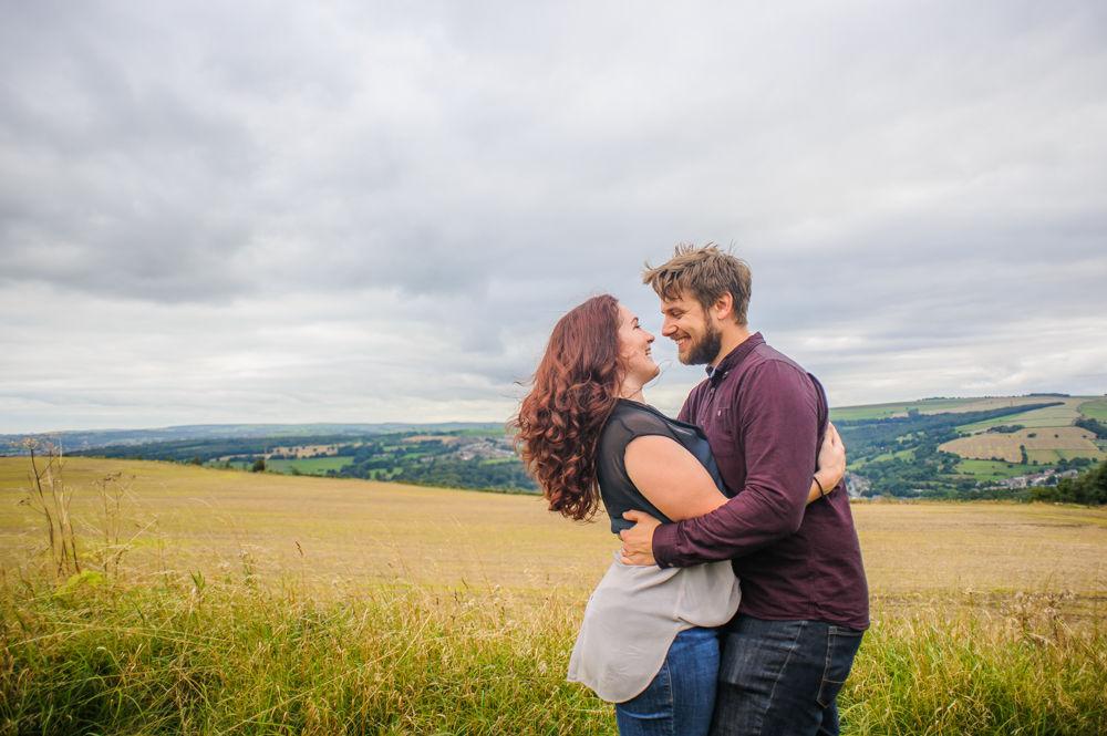 Looking over valley, Sheffield weddings