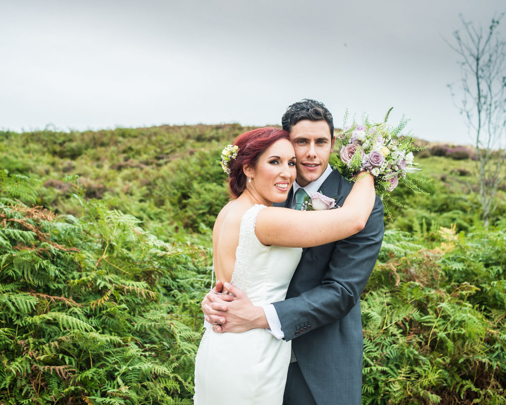On the Sheffield moors, Sheffield wedding photographers