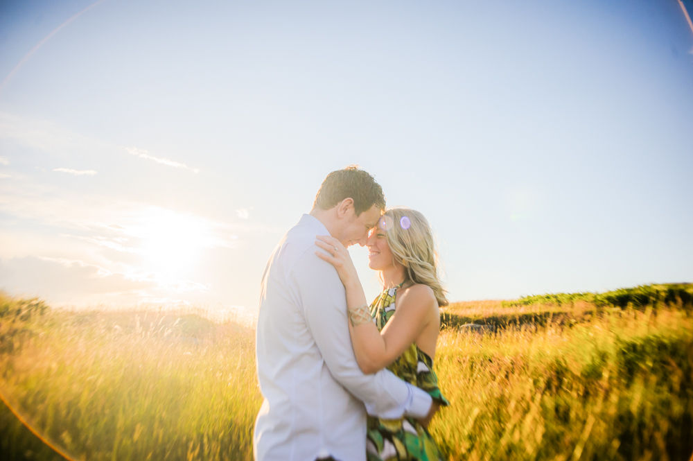 Sunflare couple portraits, Peak District weddings