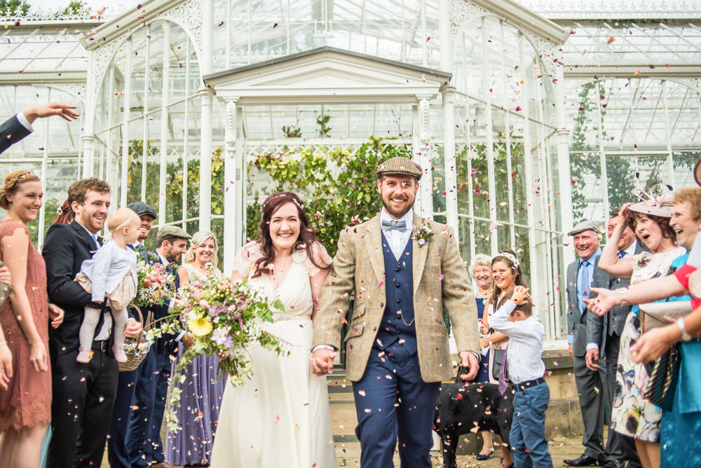 Confetti,  Wentworth Castle Garden wedding, Sheffield photographers