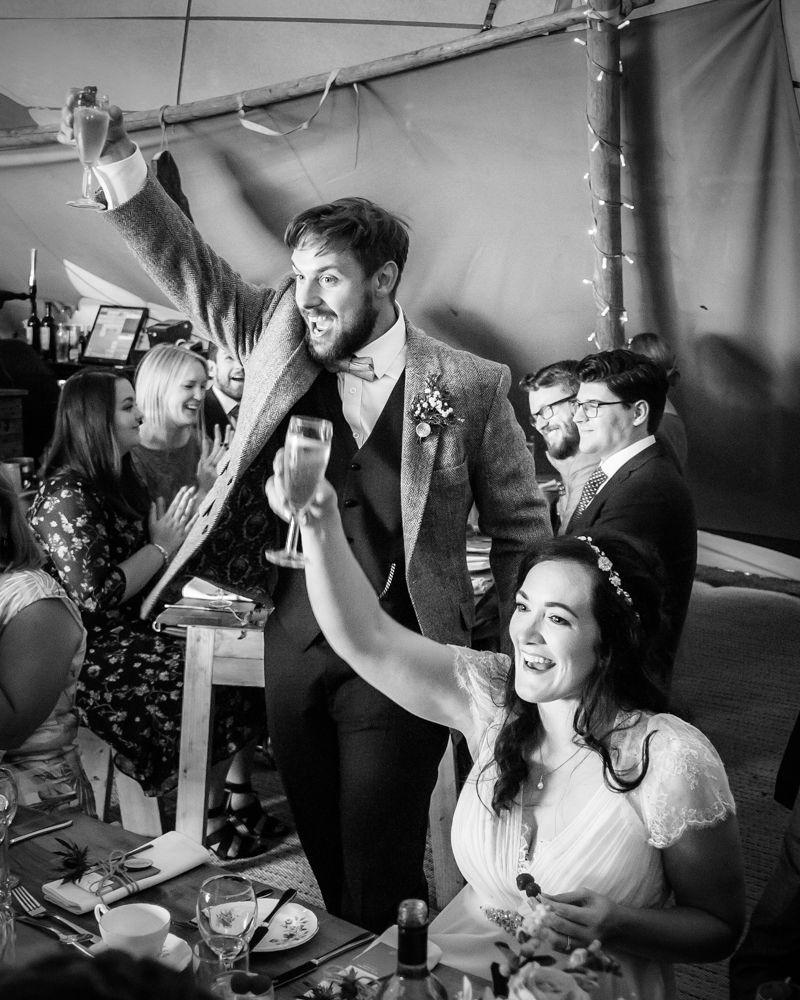 Toasts,  Wentworth Castle Garden wedding, Sheffield photographers