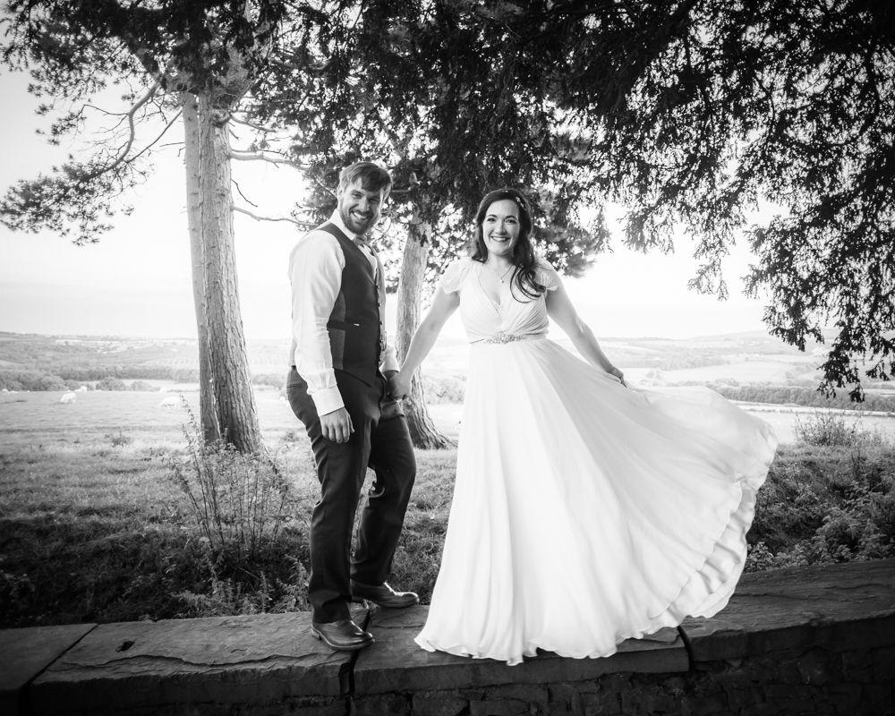 Twirling dress,  Wentworth Castle Garden wedding, Sheffield photographers