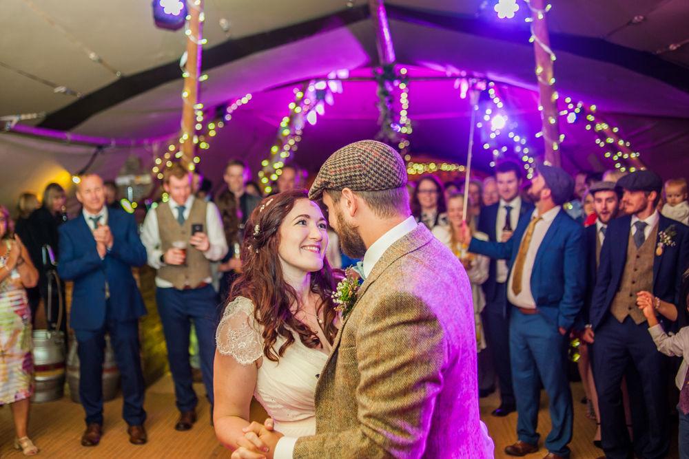 First dance close up tipi,  Wentworth Castle Garden wedding, Sheffield photographers