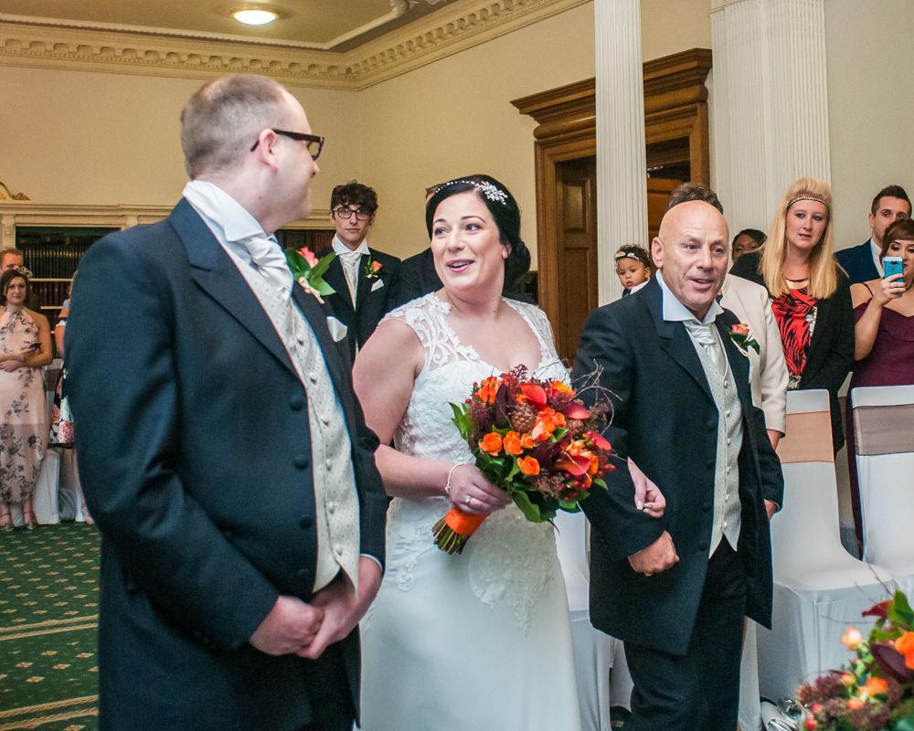 Meeting the groom, Wortley Hall wedding, Sheffield wedding photographers