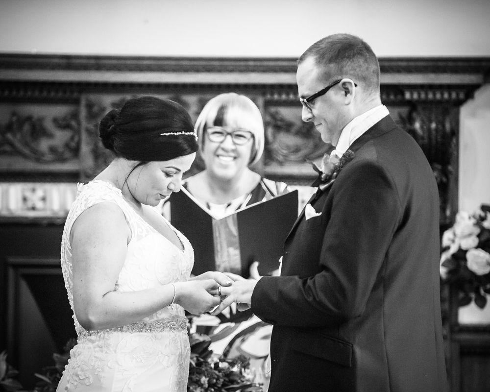 ring exchange, Wortley Hall wedding, Sheffield wedding photographers