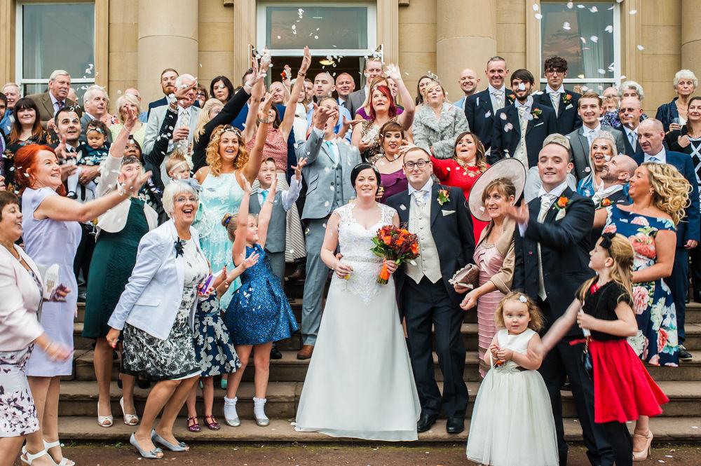 Confetti, Wortley Hall wedding, Sheffield wedding photographers