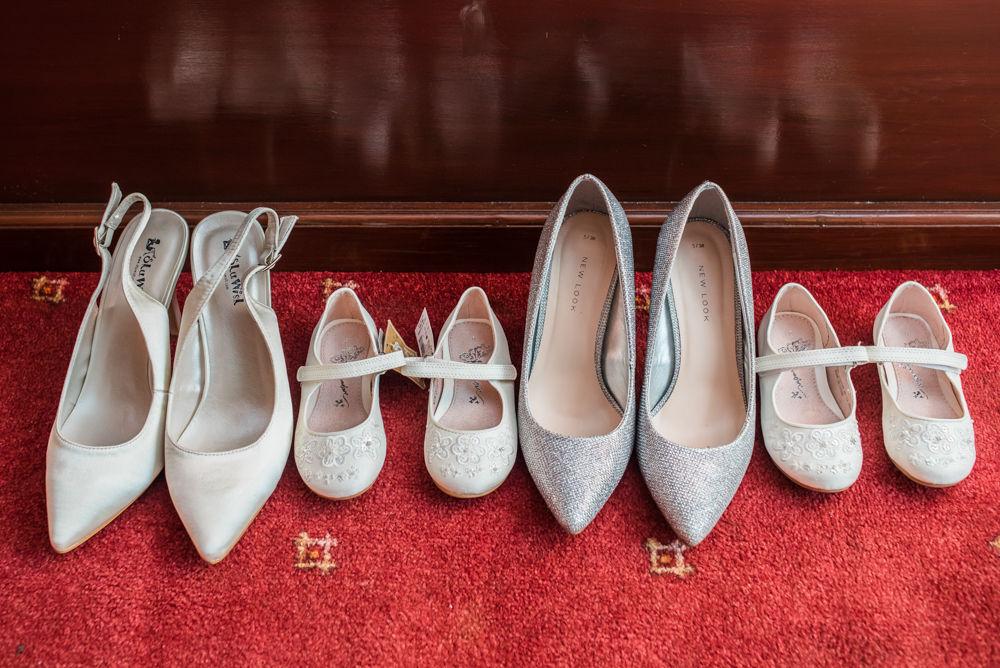Bridal shoes, Wortley Hall wedding, Sheffield wedding photographers
