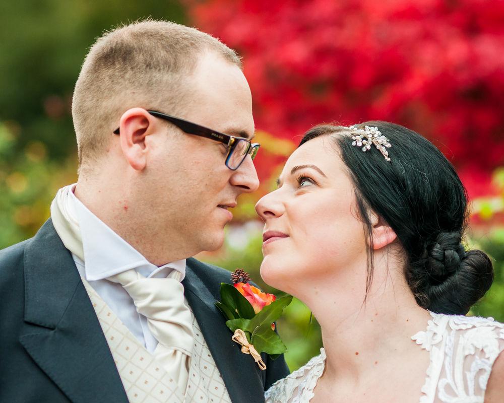 First look, Wortley Hall wedding, Sheffield wedding photographers
