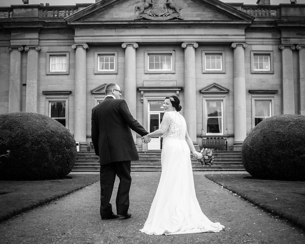 Walking back to Wortley Hall, Wortley Hall wedding, Sheffield wedding photographers