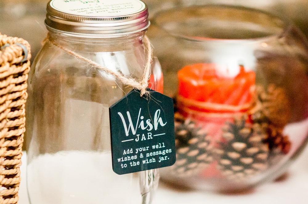 Wedding wish jar, Wortley Hall wedding, Sheffield wedding photographers
