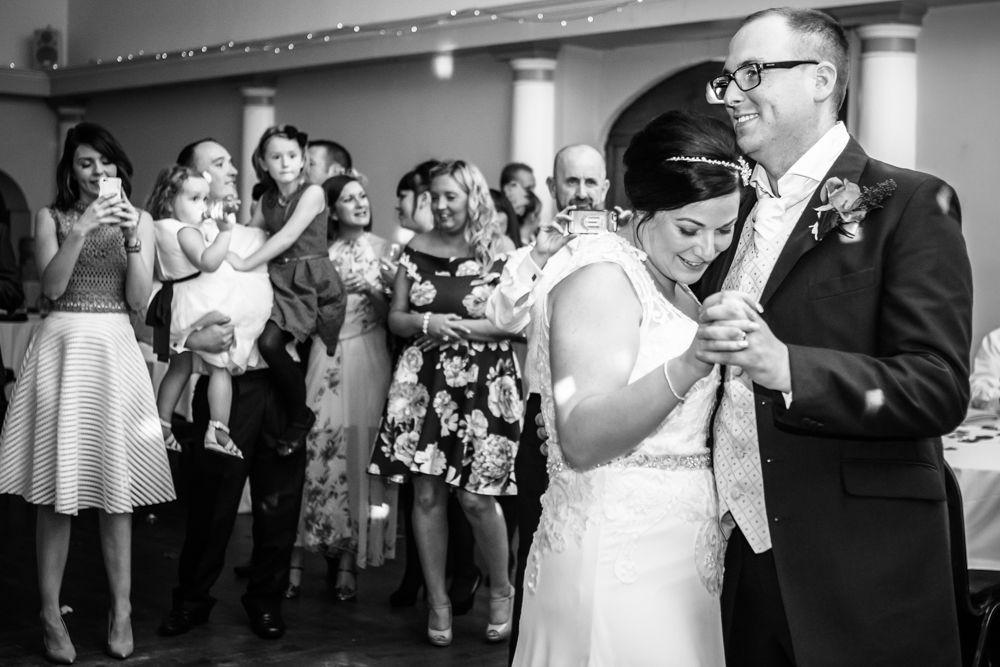 First dance, Wortley Hall wedding, Sheffield wedding photographers