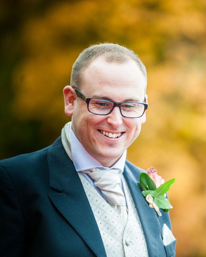 Groom arriving, Wortley Hall wedding, Sheffield wedding photographers