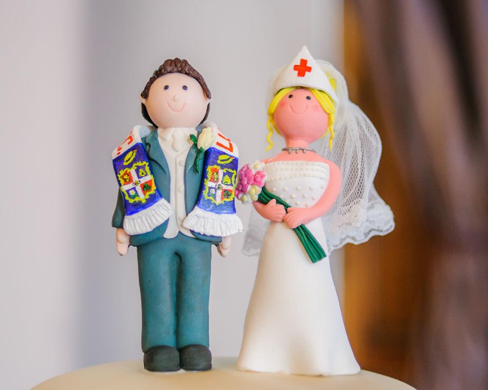 Bride and groom cake topper, Maynard wedding photography Sheffield