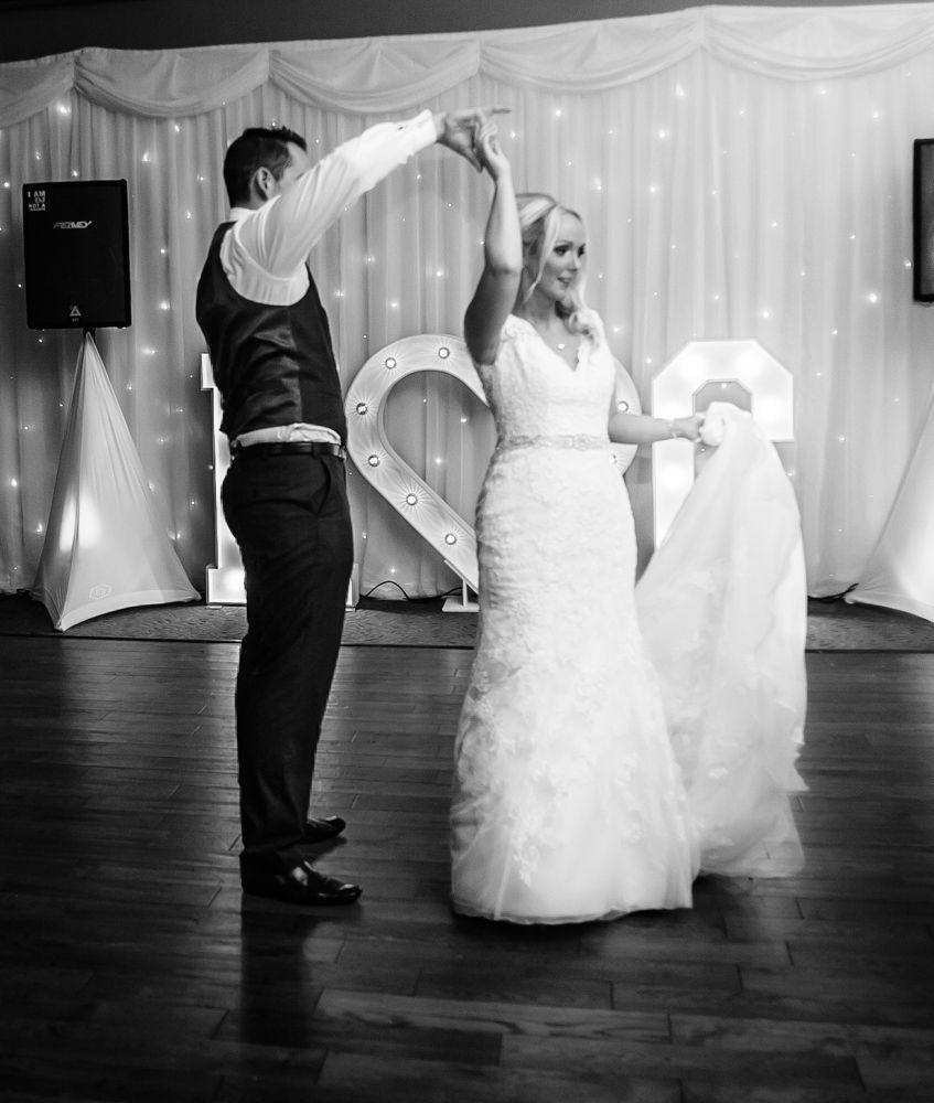 First dance, Maynard wedding photography Sheffield
