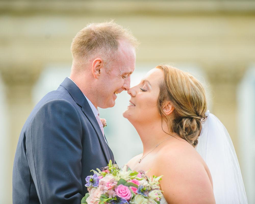 Eskimo kiss, Botanical Gardens Wedding Sheffield