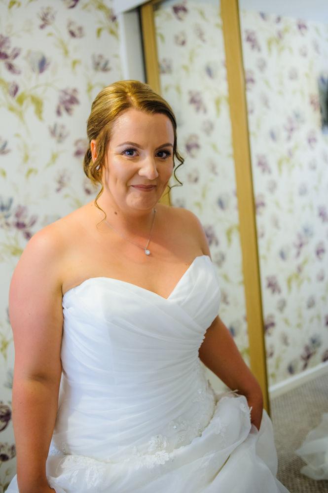 Bride getting ready, Botanical Gardens wedding Sheffield