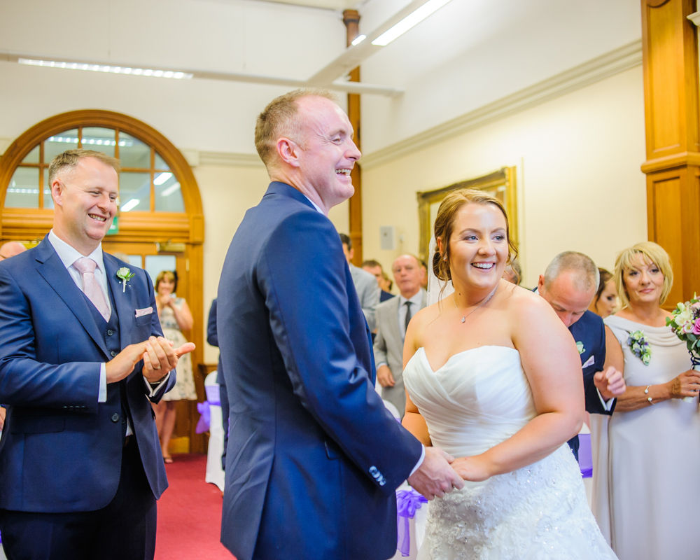 Announced husband and wife,  Sheffield Town Hall weddings