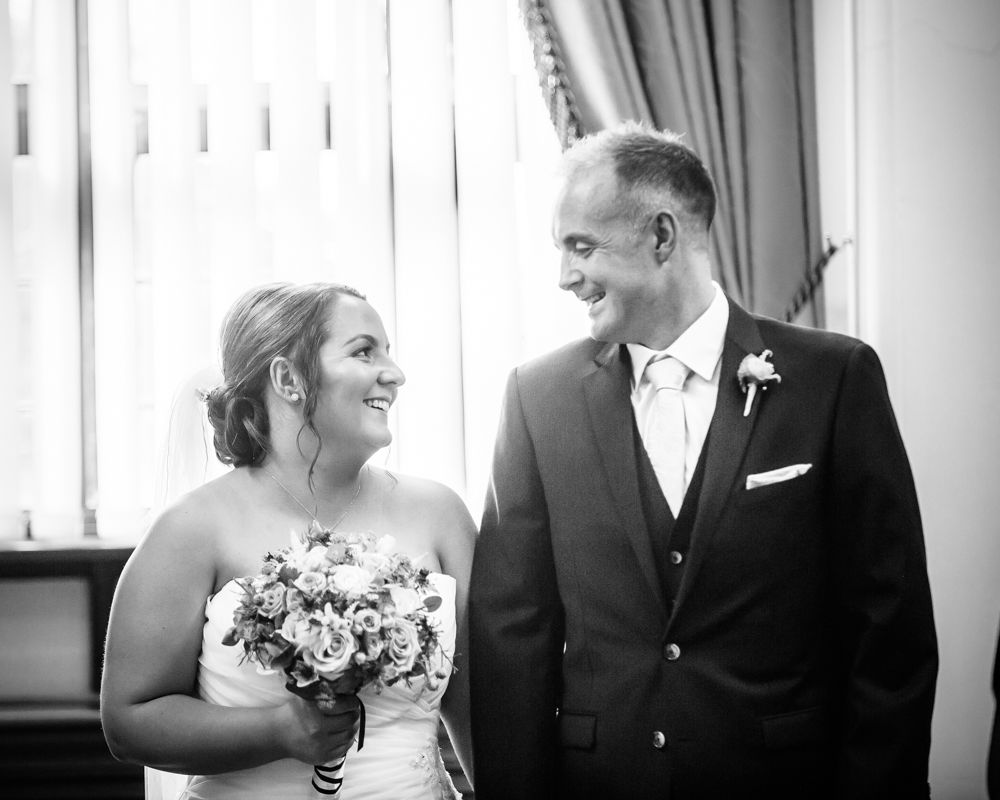 About to walk down aisle,  Sheffield Town Hall weddings