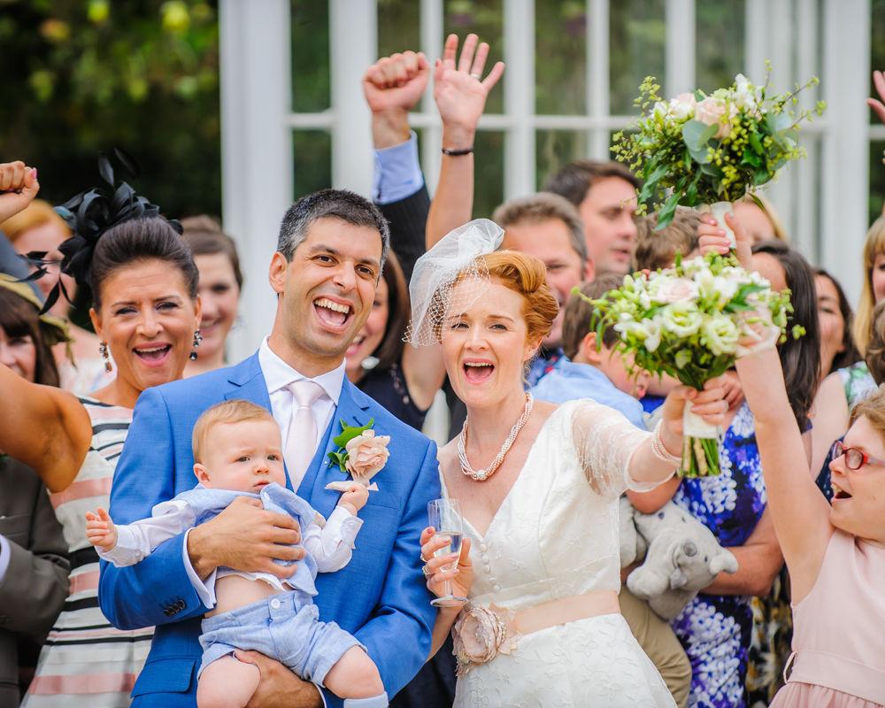 Cheering, Sheffield wedding photographers