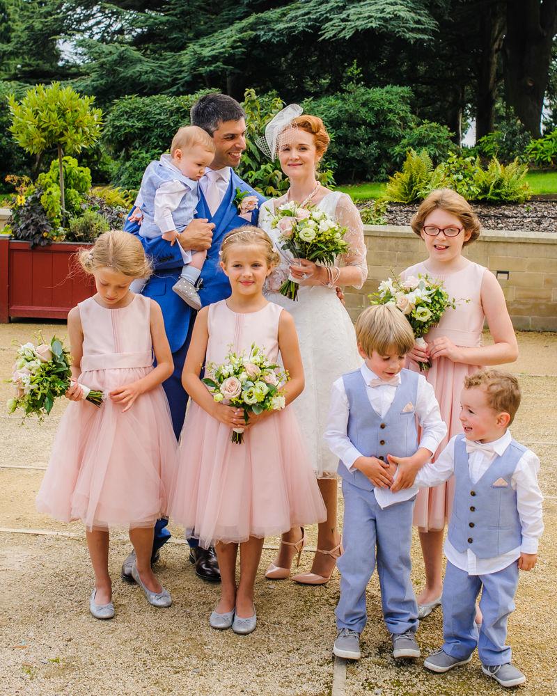 Bridal party portrait, Barnsley weddings