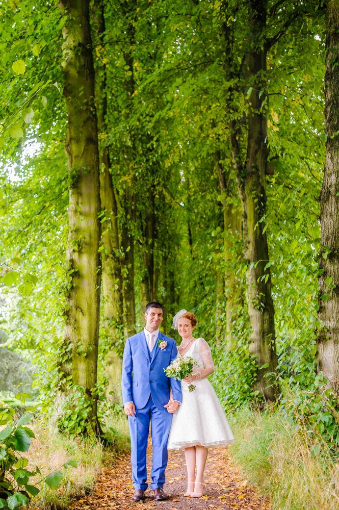 Lady Lucy's Walk bride and groom, Sheffield weddings