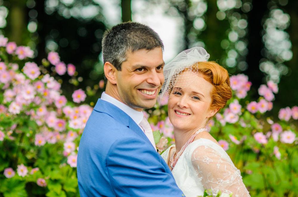 Smiling bride and groom, Lake District weddings